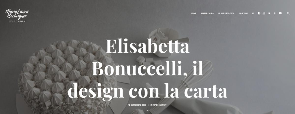 Elisabetta Bonuccelli - Il design italiano con la carta